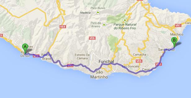 Ponta Sol Map