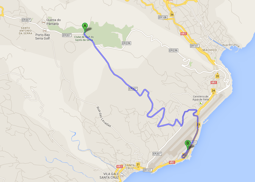 Santo De Serra Map